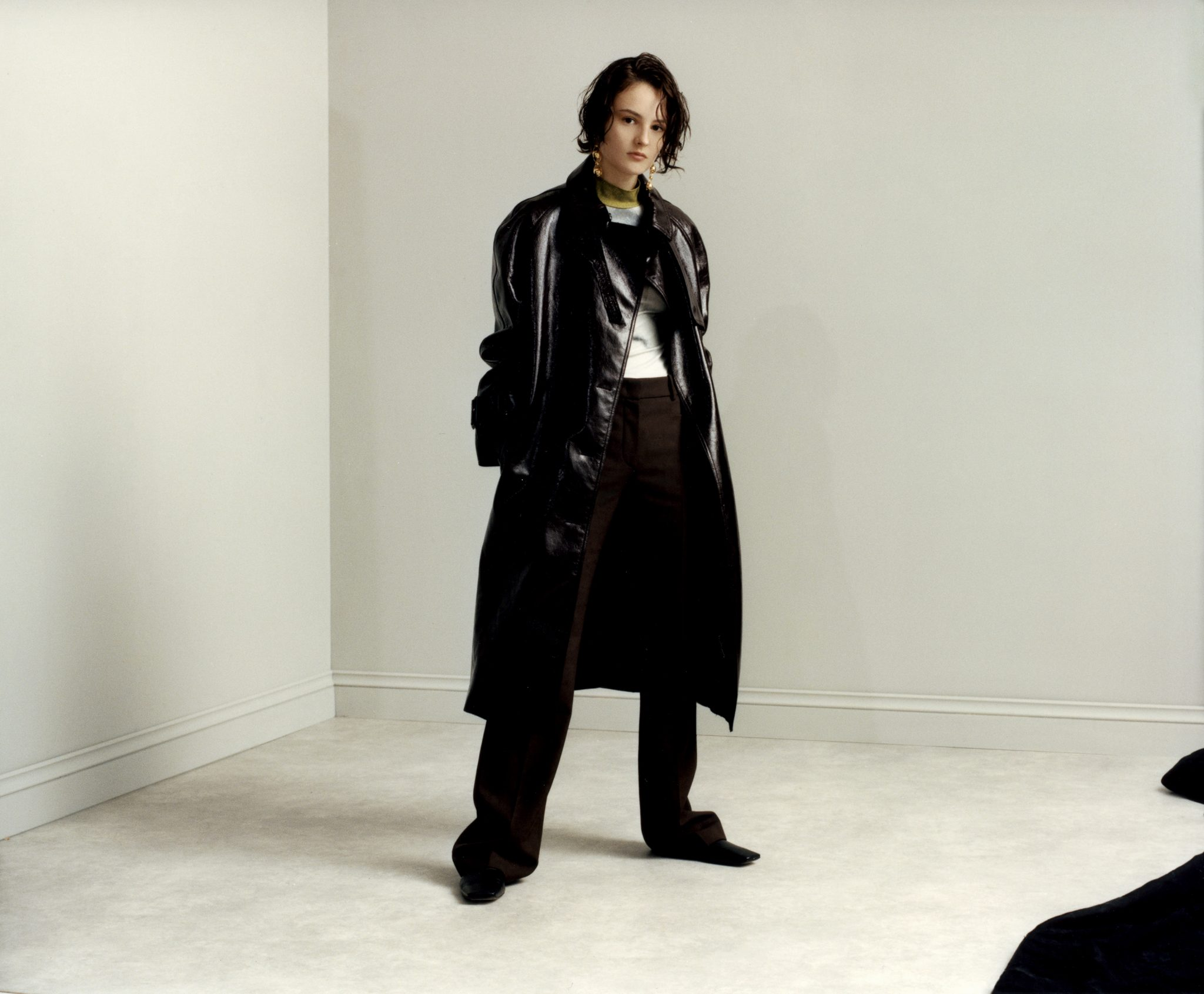 jack grange jungle magazine fashion editorial black coat